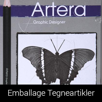 Emballage af tegneartikler til Dansk Supermarked af Palle Christensen