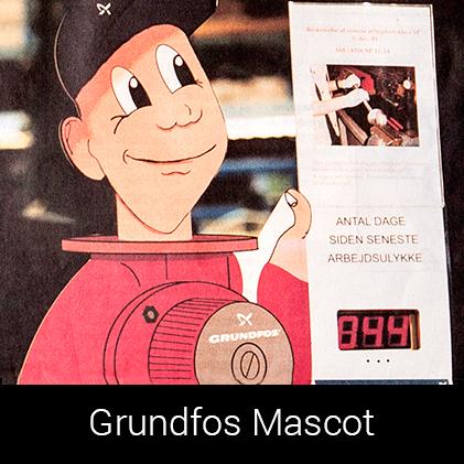 Grundfospumpemanden en mascot af Palle Christensen