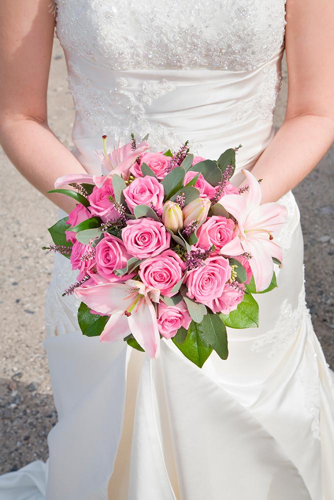 Bryllupsbuket tæt på af Palle Christensen