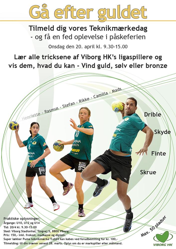 Plakat for håndbold af Palle Christensen