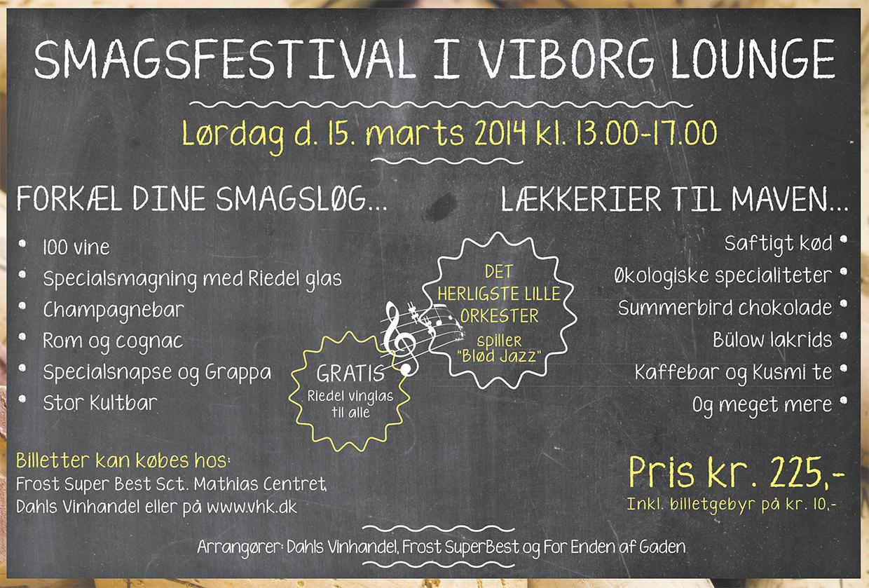 Annonce for festival i smagens tegn af Palle Christensen