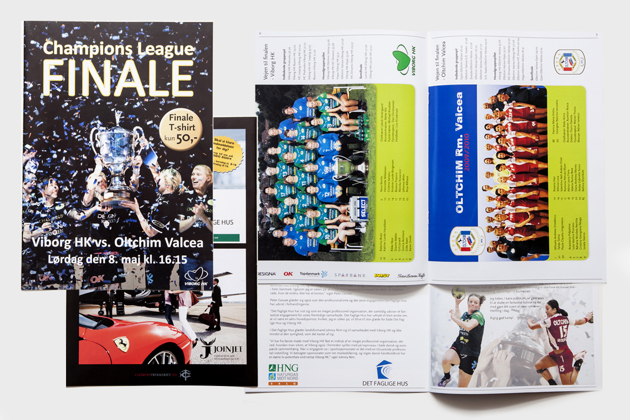 Brochure for Champions League finale af Palle Christensen