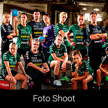 Foto Shoot af Viborg Håndbol Klub af Palle Christensen