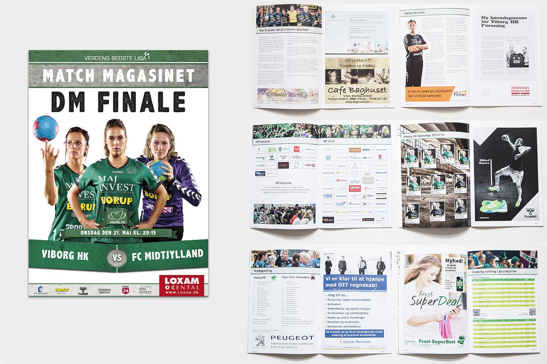 Kampprogram for Viborg Håndbold Klub af Palle Christensen