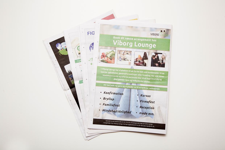 Viborg Håndbold Klub avis designet og opsat af Palle Christensen