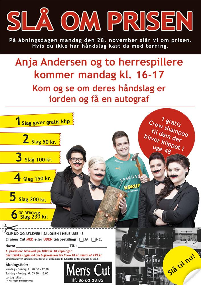 Annonce for frisør af Palle Christensen