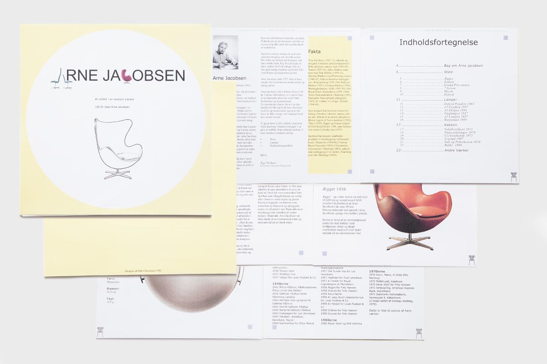 Design klassiker brochure af Palle Christensen