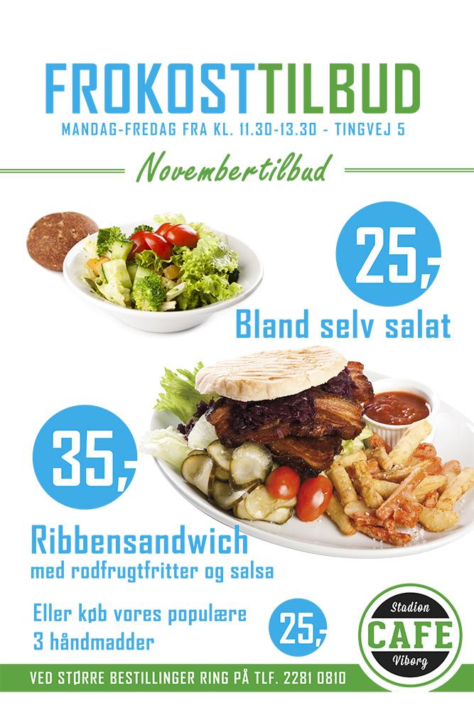 Plakat for mad af Palle Christensen