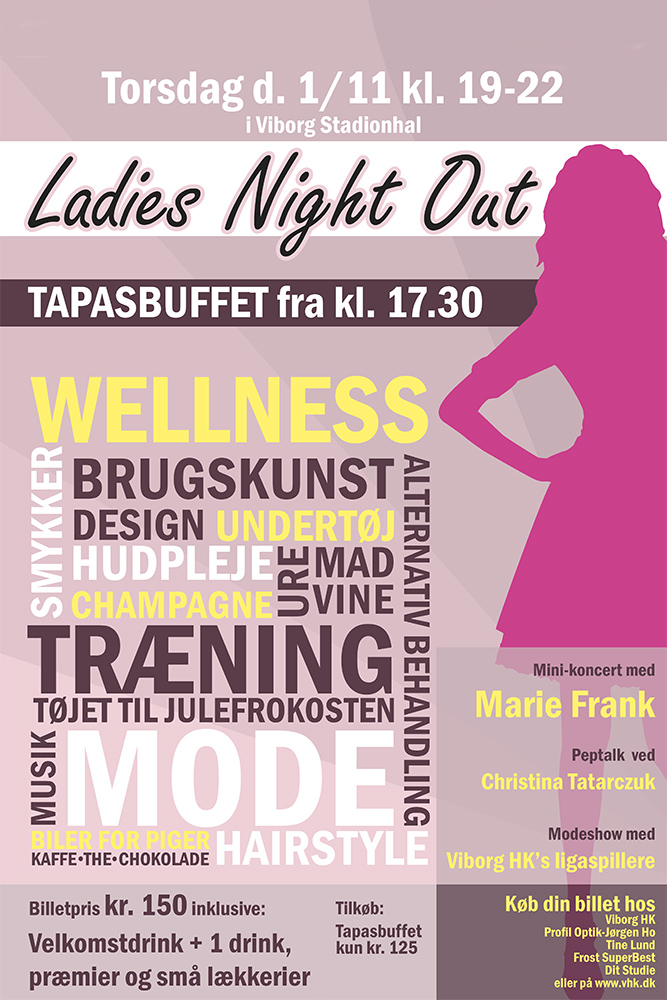 En plakat for Ladies Night Out af Palle Christensen