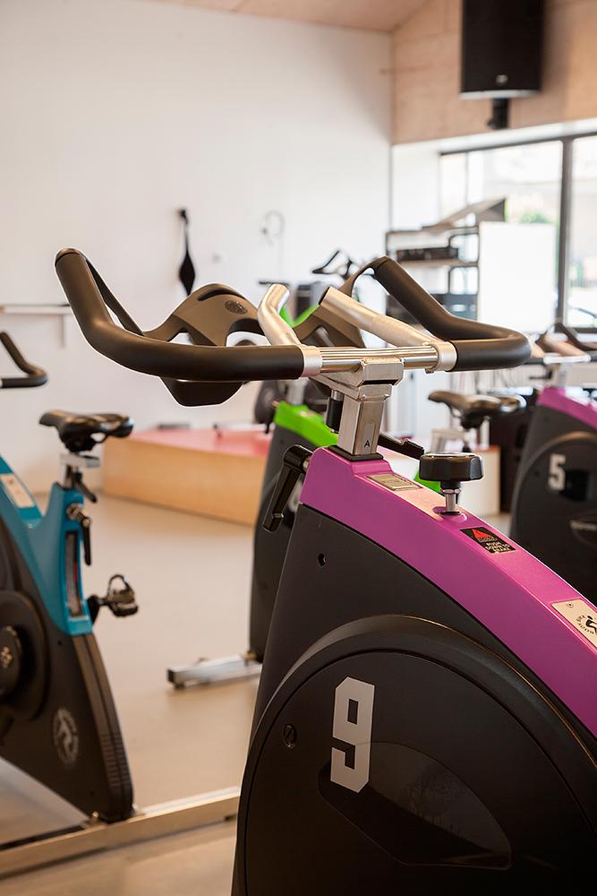 Spinningcykel close up i lokale af Palle Christensen