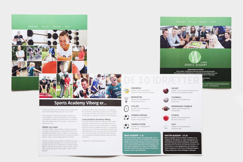Folder for sports academy af Palle Christensen